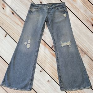 American Eagle Distressed Flare Jeans Sz 12